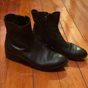Top shop leather booties. Size 6